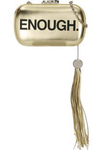 Corto Moltedo Clutch Susan Com Detalhe De Tassel - Dourado