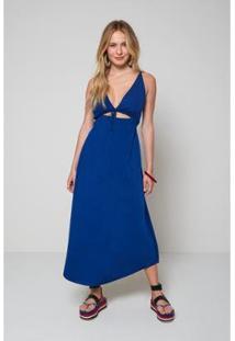 Vestido Oh, Boy! Costas Cruzadas Ice Feminino - Feminino-Azul