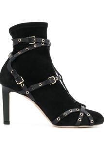 Jimmy Choo Ankle Boot 'Brianna 85' De Couro - Preto