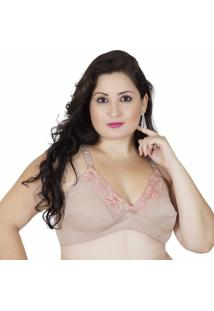 Sutiã Plus Size Click Chique Firmador - Feminino-Bege