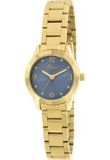 R  159,90. Zattini Relógio Feminino Condor Dourado Textura Mini ... 3b8c404be1