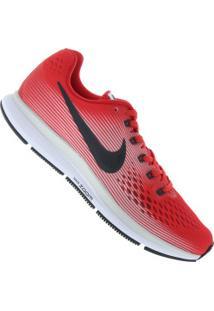 Tênis Nike Air Zoom Pegasus 34 - Masculino - Vermelho/Cinza Esc