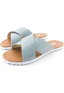 Rasteira Quality Shoes Feminina 008 Verniz Cinza 40 40