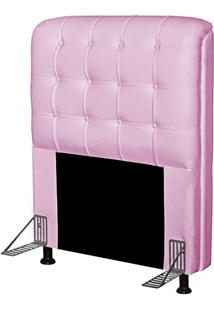 Cabeceira Para Cama Box Solteiro 90 Cm Califórnia Corino Rosa - Js Móveis