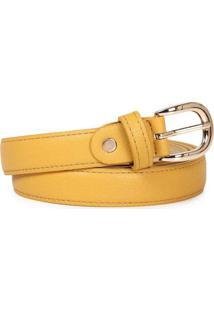 Cinto Feminino Lara Fino Amarelo