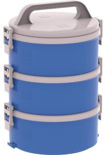 Conjunto Marmita Termoprato Tekcor 3 Peças 1.5 Litros Azul Soprano
