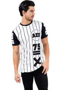 Camiseta Aes 1975 Alongada (Swag) Ll Branco