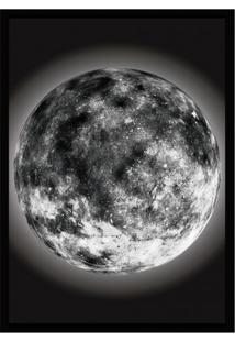 Quadro Decorativo Com Moldura The Moon Preto (45X32)