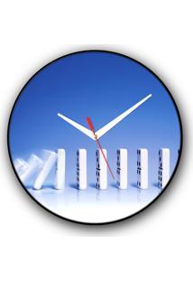 Relógio De Parede Colours Creative Photo Decor Decorativo, Criativo E Diferente - Dominós
