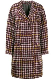 Isabel Marant Casaco Oversized De Tweed - Roxo