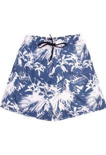 Shorts Aleatory Palm Masculino - Masculino-Azul