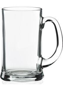 Caneca De Chopp Em Vidro Transparente Icon 500Ml