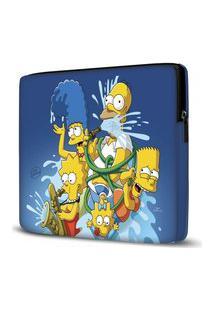 Capa Para Notebook Simpsons Azul 15.6 A 17 Polegadas