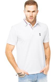 Camisa Polo Sergio K Logo Branca
