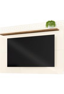 Painel Para Tv Atã© 55 Polegadas 170Cm Sala De Estar Life New Off White/Canela - Frade Movelaria - Off-White - Dafiti