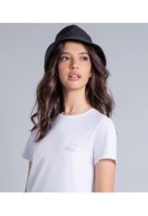 Blusa Manga Curta Estampada Branco - Lez A Lez