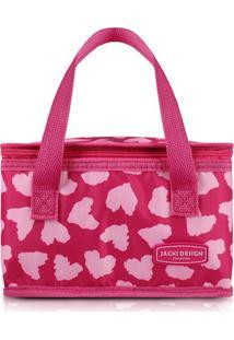Bolsa Térmica Corações Pink - Jacki Design