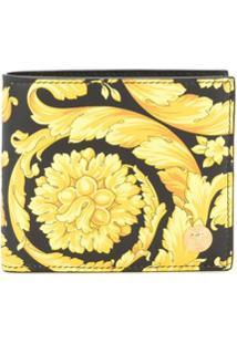 Versace Carteira Com Padronagem Barroca - Amarelo