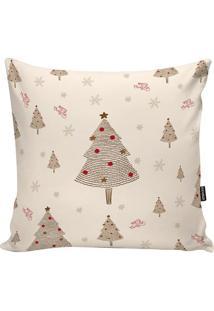 Capa Para Almofada Xmas Tree- Bege & Marrom- 45X45Cmstm Home