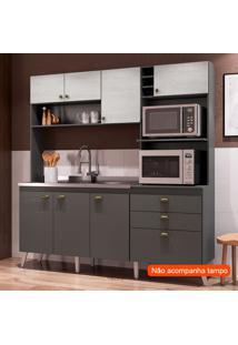 Cozinha Compacta Donna 8 Pt 2 Gv Grafite E Gelo