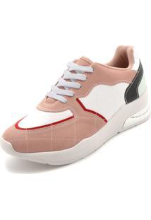 Tênis Vizzano Dad Sneaker Chunky Rosa/Branco
