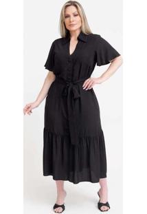 Vestido Midi Almaria Plus Size Pianeta Chemise Pre