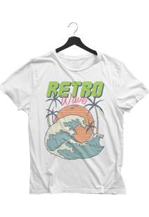 Camiseta Jay Jay Básica Retro Wave Branca Dtg