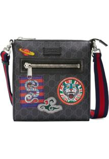 Gucci Bolsa Carteiro Night Courrier Gg Supreme - Preto