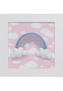 Quadro Decorativo Arco-Íris Quarto Bebê Infantil Menina