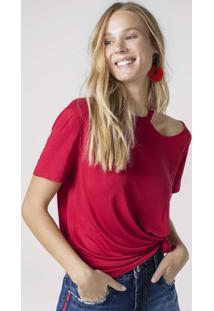 Blusa One Shoulder Em Malha De Viscose