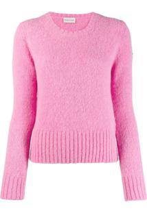 Moncler Suéter De Tricô - Rosa