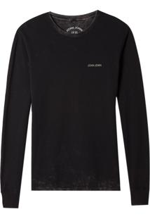 Camiseta John John Ml Super Storm Malha Cinza Masculina (Cinza Chumbo, Pp)