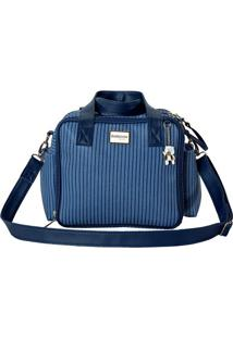 Bolsa Ibiza- Azul & Azul Escuro- 33X28X7Cm- Batibatistela
