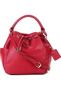 Bolsa Shoestock Bucket Floater Feminina - Feminino-Vermelho