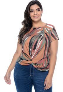 Blusa Realist Plus Plus Size Texana Canelada