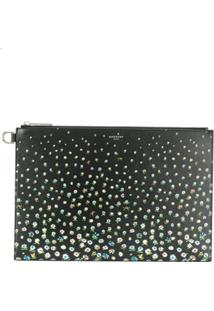 Givenchy Floral Print Clutch Bag - Preto