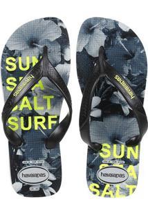 Chinelo Masculino Havaianas Surf - Masculino-Cinza