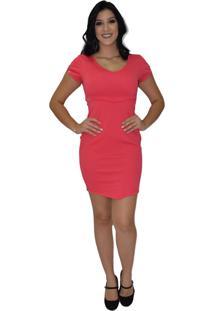 Vestido Liso Energia Fashion Coral