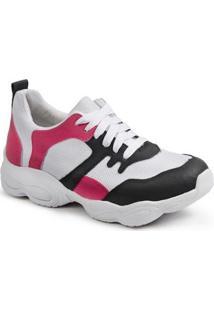 Tênis Luma Ventura Chunck Pink Feminino - Feminino-Pink+Branco