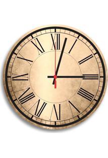 Relógio De Parede Decorativo Números Romanos Único