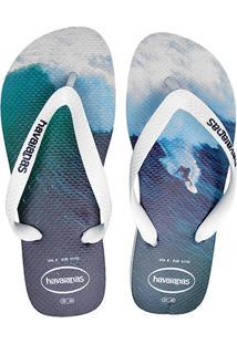 Sandália Havaianas Hype Masculina - Masculino-Branco+Azul