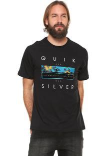 Camiseta Quiksilver Quik Blocked Preta