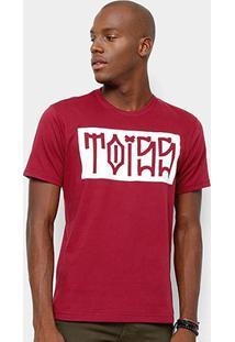 Camiseta Toiss Pixo - Masculino-Bordô