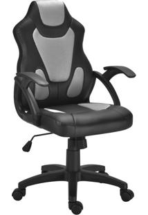 Cadeira Gamer Lux Preta E Cinza