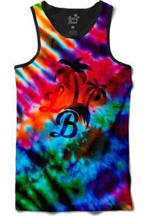 Camiseta Regata Long Beach Psicodélica Tie Dye Sublimada Colors