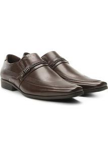Sapato Social Couro Ferracini Liverpool Masculino - Masculino-Café