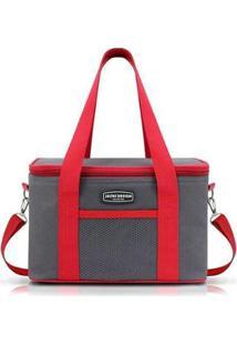 Bolsa Térmica Lisa Urbano Jacki Design - Unissex-Vermelho