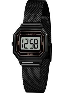 Relógio Lince Feminino Classic Digital - Feminino-Preto