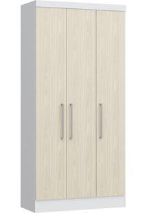 Modulo Com 3 Portas E 2 Gavetas Infinity 3830A-Castro Móveis - Branco Tx / Nudi