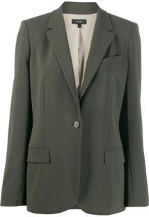 Theory One-Button Blazer - Verde
